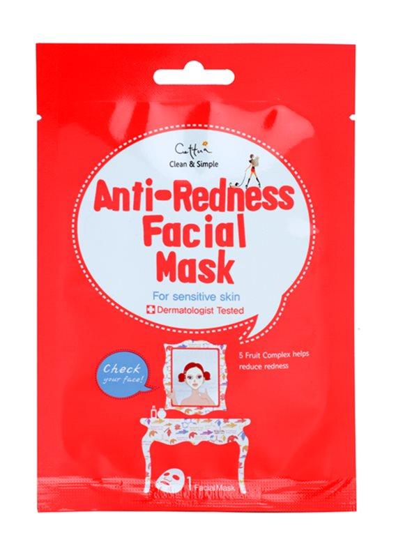 Cettua Clean & Simple masque tissu pour peaux sensibles sujettes aux rougeurs