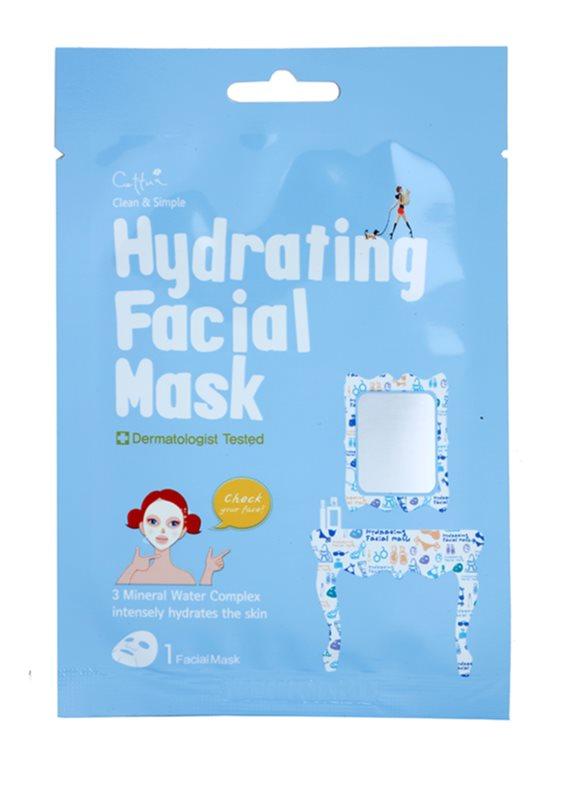 Cettua Clean & Simple maska iz platna z visokim vlažilnim in hranilnim učinkom