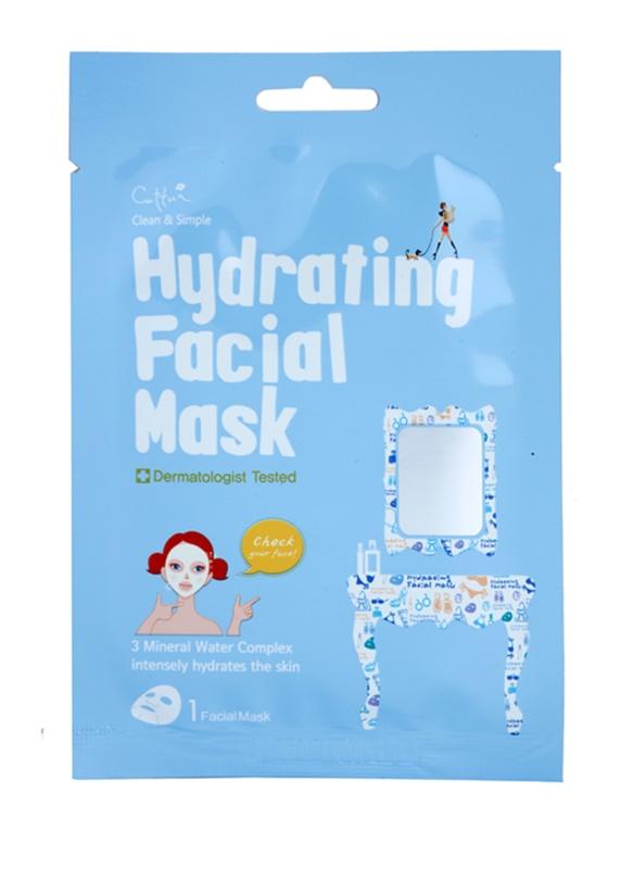 Cettua Clean & Simple plátýnková maska s vysoce hydratačním a vyživujícím účinkem