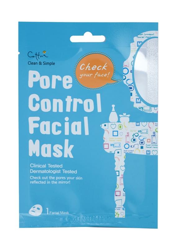 Cettua Clean & Simple Zellschicht-Maske zur Porenverfeinerung und für ein mattes Aussehen der Haut