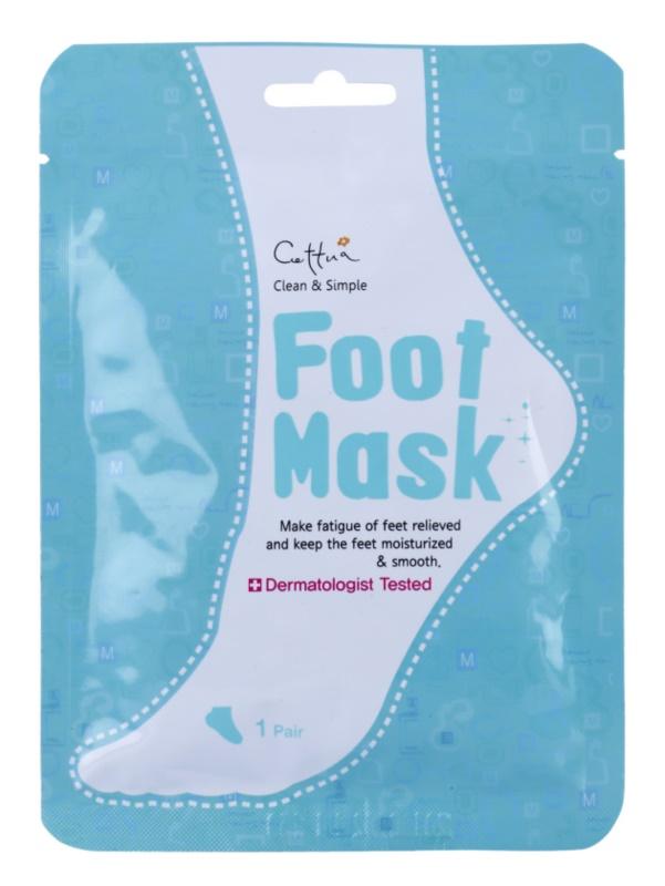 Cettua Clean & Simple feuchtigkeitsspendende Peeling-Socken für zartere Fußsohlen