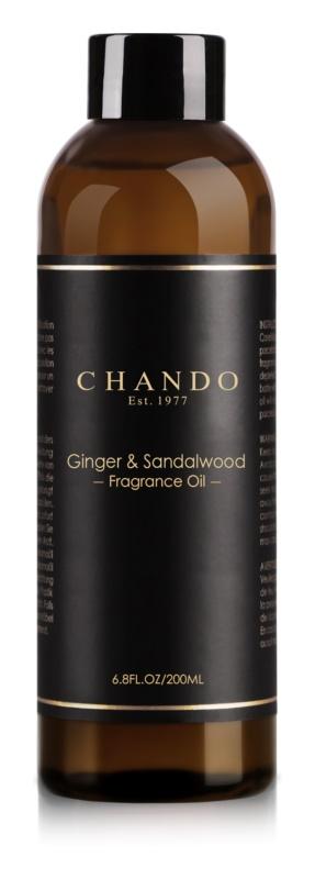 Chando Fragrance Oil Ginger & Sandalwood napełnianie do dyfuzorów 200 ml