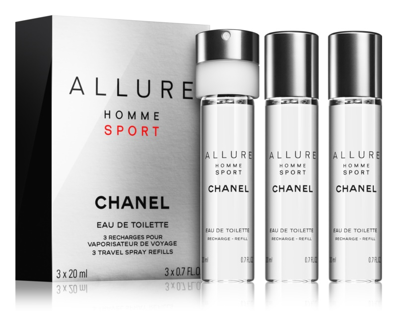 Chanel Allure Homme Sport Eau de Toilette for Men 3 x 20 ml Refill