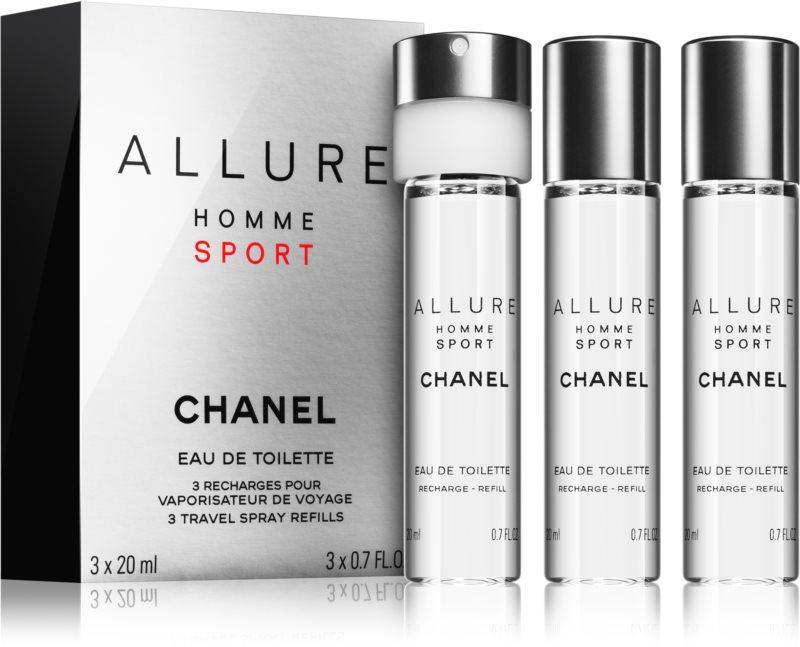 Chanel Allure Homme Sport Eau de Toilette para homens 3 x 20 ml recarga