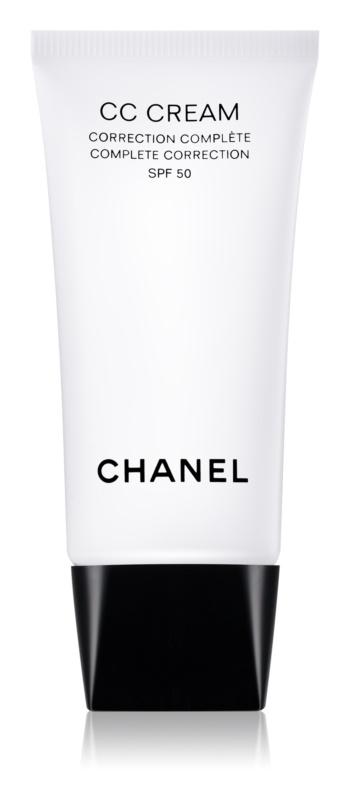 Chanel CC Cream crema para unificar el tono de la piel  SPF 50