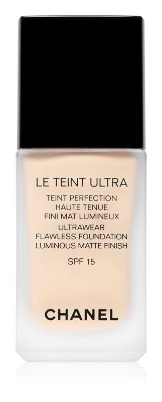 Chanel Le Teint Ultra dlhotrvajúci zmatňujúci make-up SPF 15