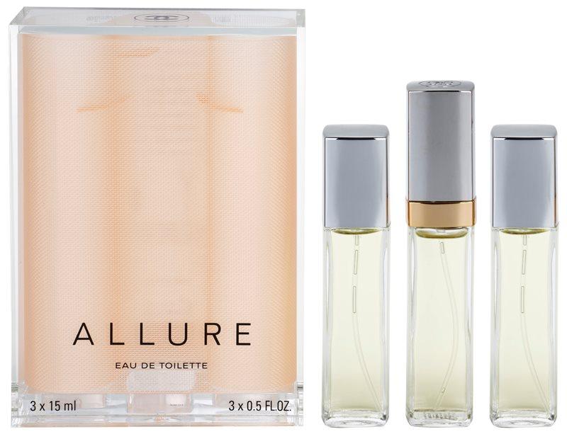 Chanel Allure toaletná voda pre ženy 45 ml (1x plniteľná + 2x náplň)