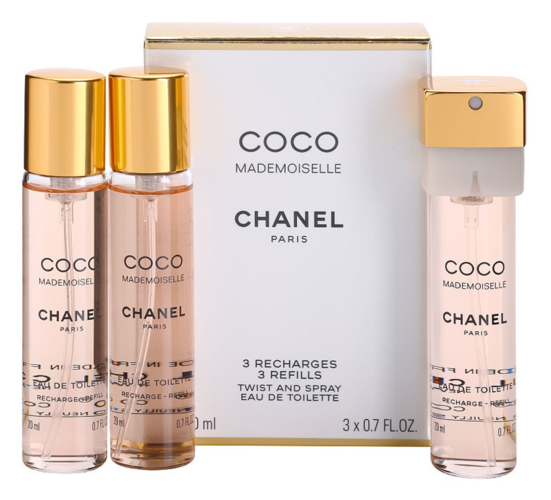 Chanel Coco Mademoiselle Eau De Toilette Pour Femme 3x20 Ml 3x
