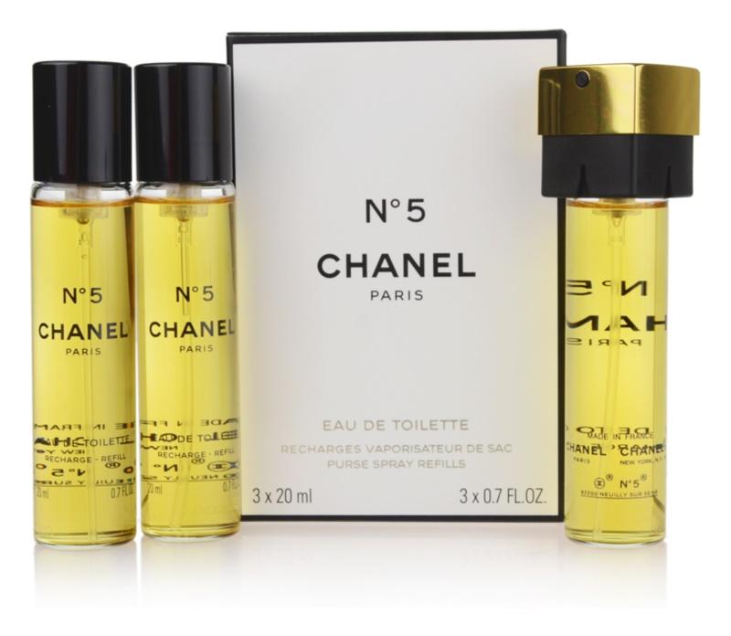 Chanel N° 5 toaletní voda pro ženy 3 x 20 ml cestovní balení