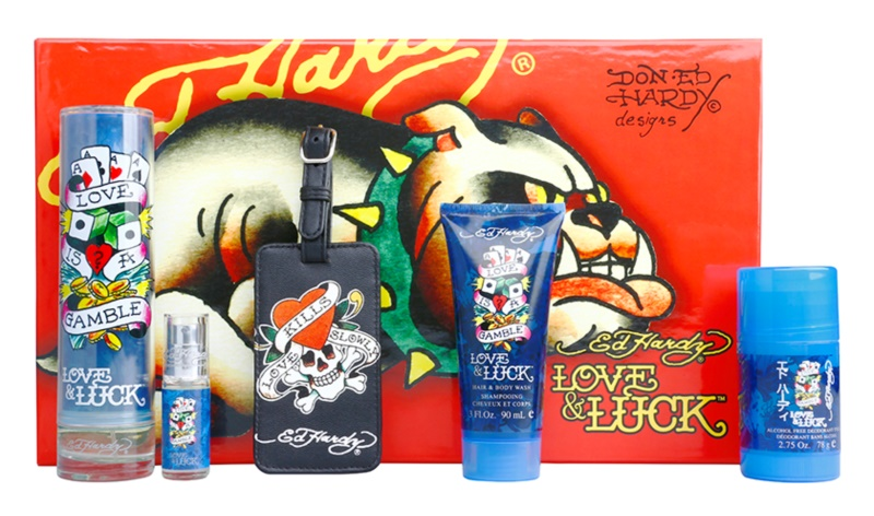 Christian Audigier Ed Hardy Love & Luck Man confezione regalo I.