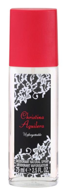 Christina Aguilera Unforgettable deodorant s rozprašovačem pro ženy 75 ml