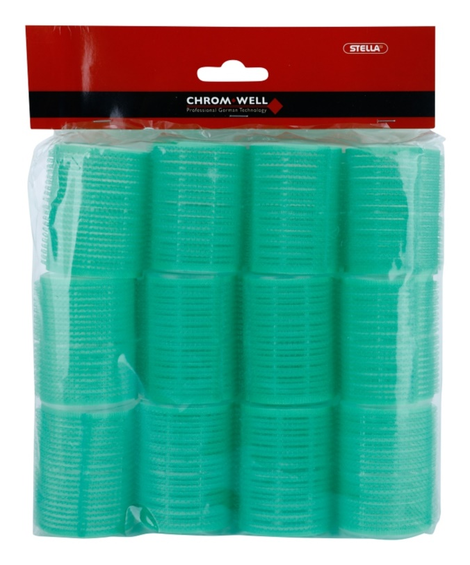 Chromwell Accessories Green самозахващащи се ролки за коса За коса