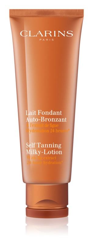 Clarins Sun Self-Tanners creme autobronzeador para corpo e rosto com efeito hidratante