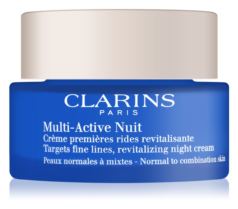 Clarins Multi-Active crema de noche revitalizante para suavizar las líneas de expresión para pieles normales y mixtas