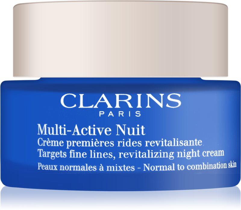 Clarins Multi-Active Revitalizáló éjszakai krém a finom vonalakért. normál és kombinált bőrre