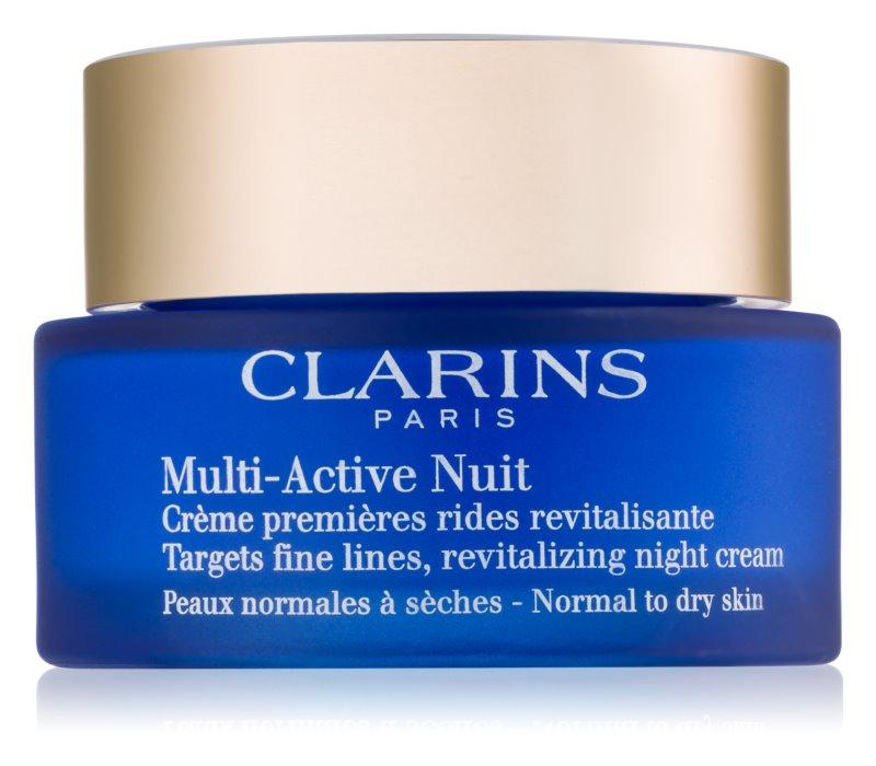Clarins Multi-Active nočný revitalizačný krém na jemné vrásky pre normálnu a suchú pleť