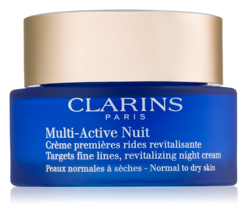 Clarins Multi-Active Revitaliserende Nachtcrème voor Fijne Lijntjes  voor Normale en Droge Huid