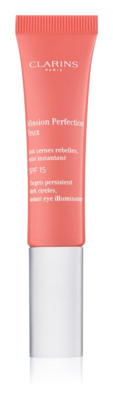 Clarins Mission Perfection rozjasňujúci očný krém proti opuchom a tmavým kruhom SPF 15