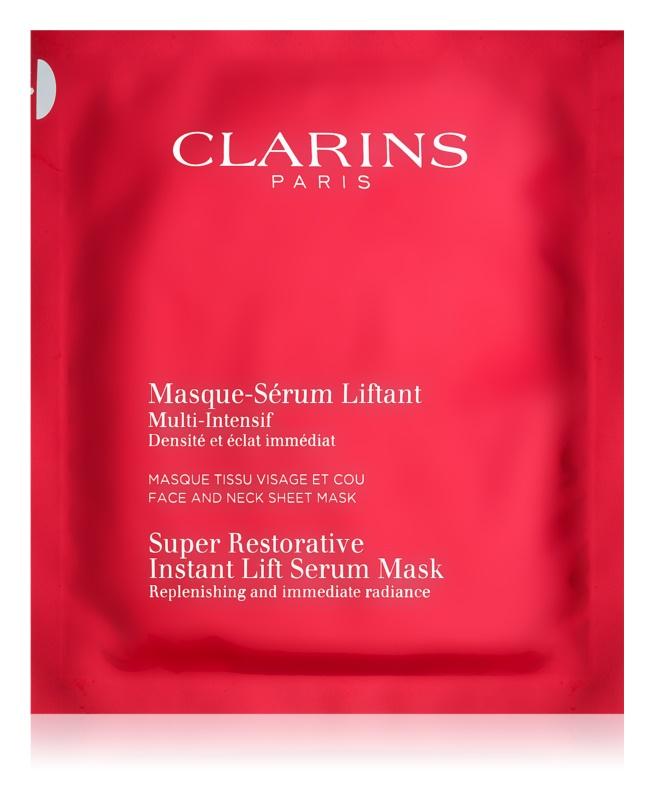 Clarins Super Restorative obnovujúca maska pre okamžité vyhladenie vrások
