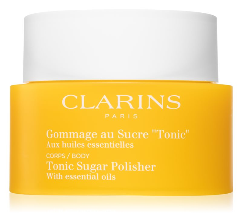 Clarins Body Exfoliating Care зміцнюючий пілінг для тіла з есенціальними маслами