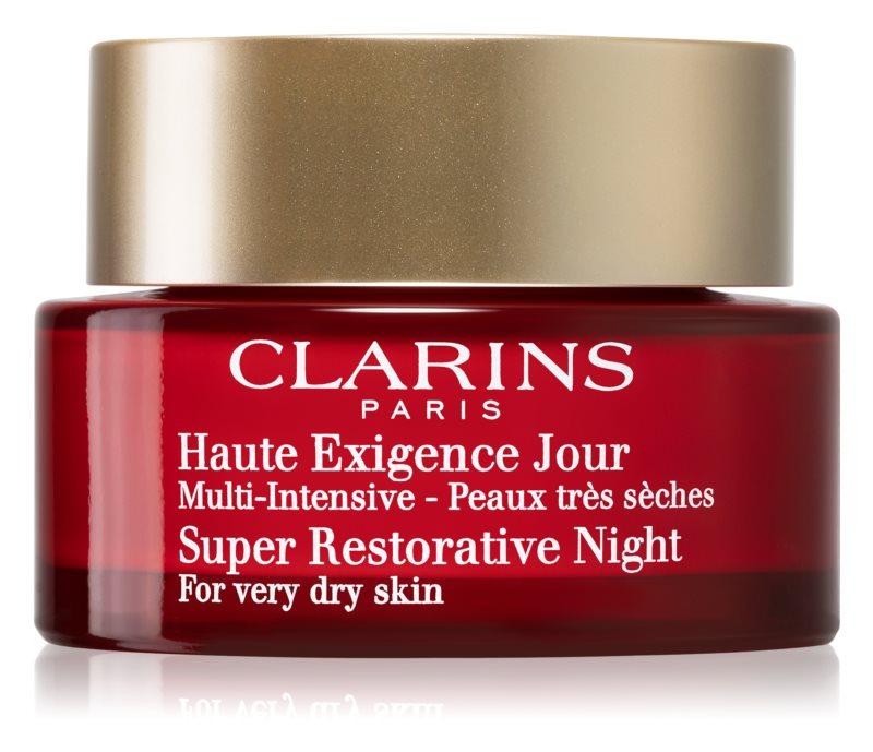 Clarins Super Restorative éjszakai krém az öregedés összes jele ellen nagyon száraz bőrre