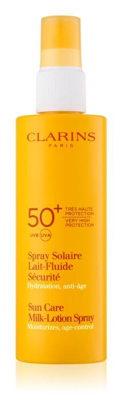 Clarins Sun Protection молочко для засмаги  у формі  спрею SPF 50+