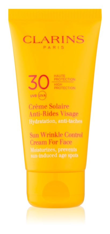 Clarins Sun Protection αντηλιακή κρέμα ενάντια στη γήρανση της επιδερμίδας SPF30
