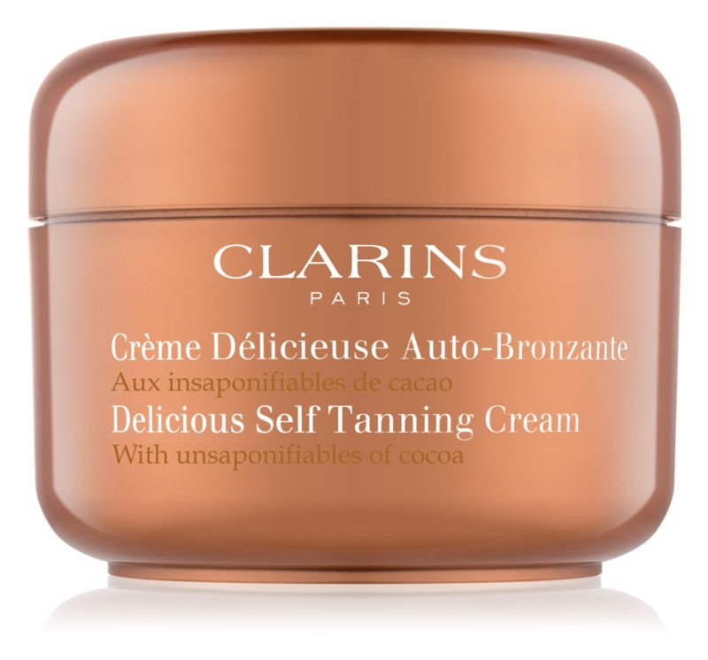 Clarins Sun Self-Tanners crème auto-bronzante corps et visage au beurre de cacao