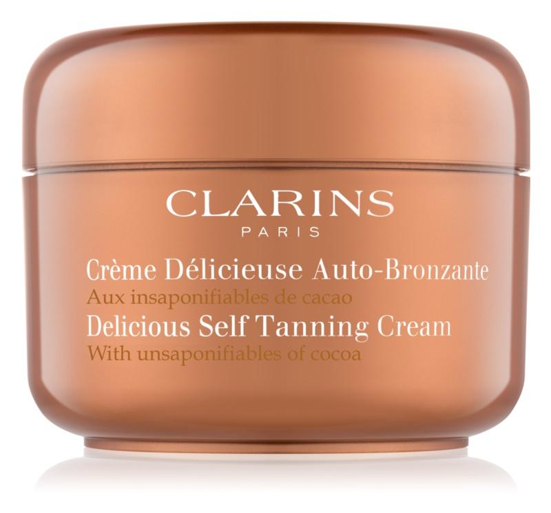 Clarins Sun Self-Tanners önbarnító krém testre és arcra kakaóvajjal