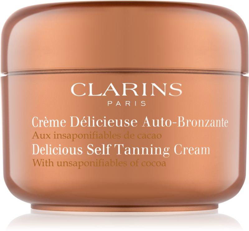 Clarins Sun Self-Tanners samoopalovací krém na tělo a obličej s kakaovým máslem