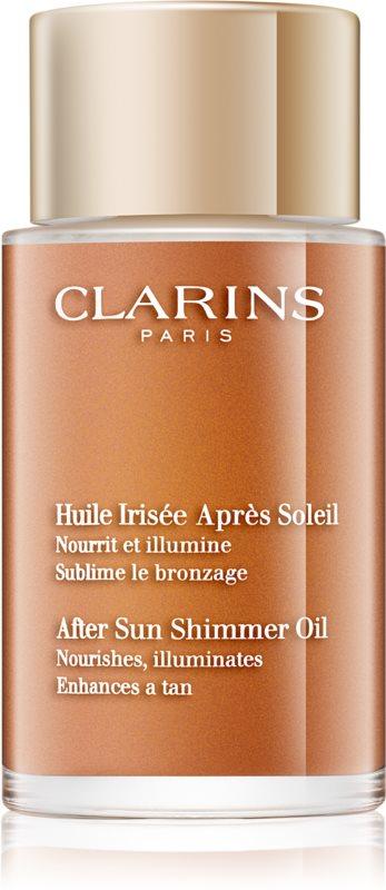 Clarins Sun Soothers óleo nutritivo com brilho pós-solar