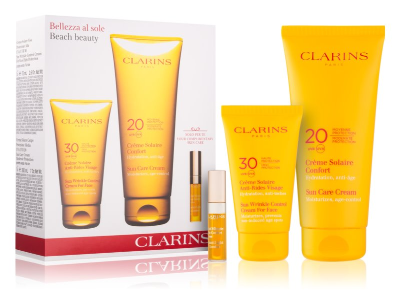 Clarins Sun Protection καλλυντικό σετ I. (για  ηλιοθεραπεία)