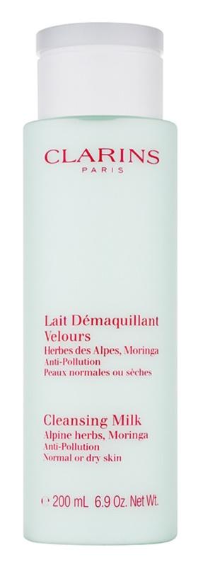 Clarins Cleansers mleczko oczyszczające z ekstraktem z ziół alpejskich do cery normalnej i suchej