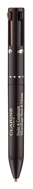 Clarins Eye Make-Up Stylo 4 Couleurs lápis de olhos e lábios 2 em 1