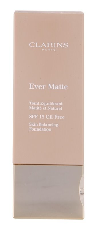 Clarins Face Make-Up Ever Matte Pore-Minimising Mattifying Foundation SPF 15