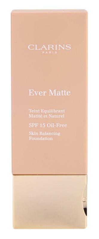 Clarins Face Make-Up Ever Matte matující make-up pro minimalizaci pórů SPF15