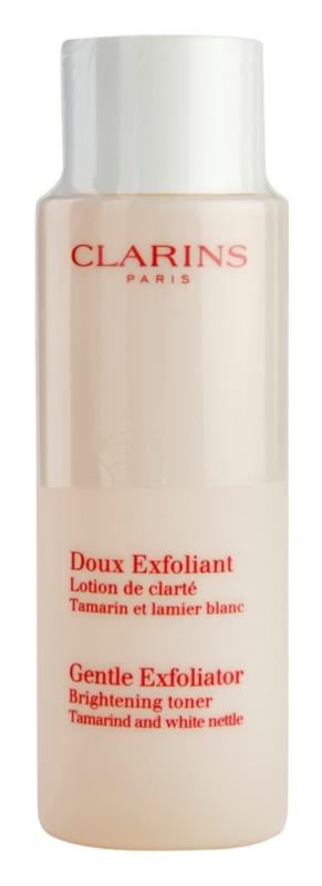 Clarins Exfoliating Care gyengéd bőrhámlasztó tonik az élénk bőrért