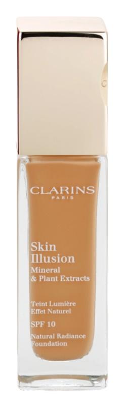 Clarins Face Make-Up Skin Illusion machiaj de stralucire pentru un look natural SPF 10