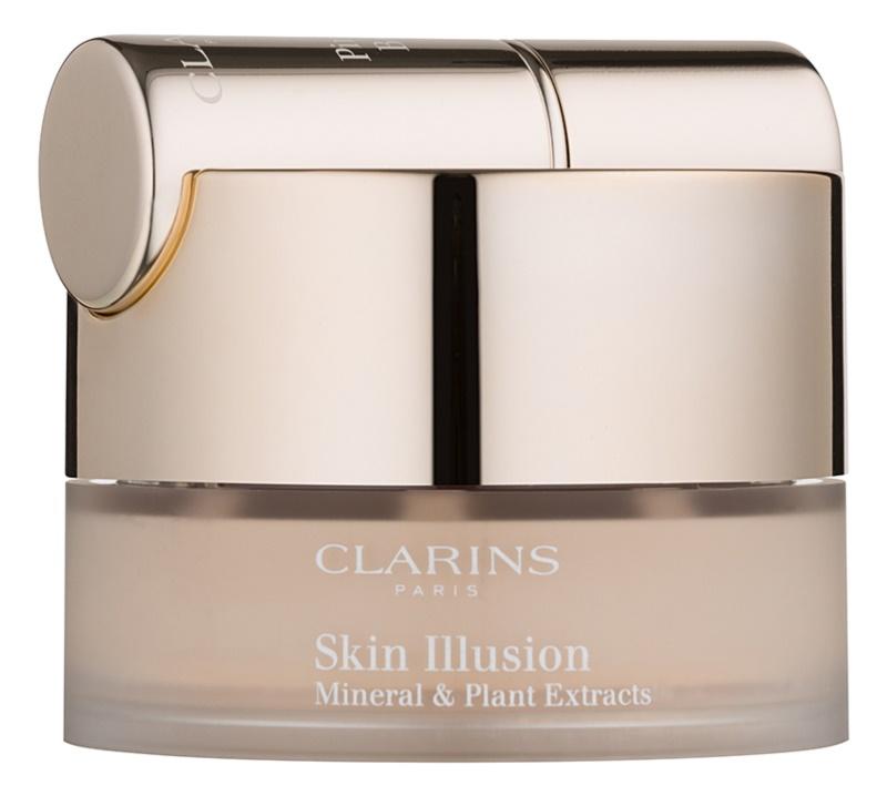 Clarins Face Make-Up Skin Illusion pudra machiaj cu pensula