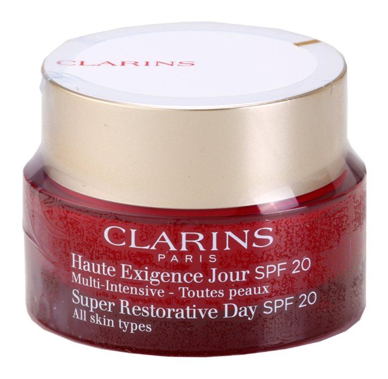 Clarins Super Restorative denný liftingový krém proti vráskam pre všetky typy pleti SPF 20