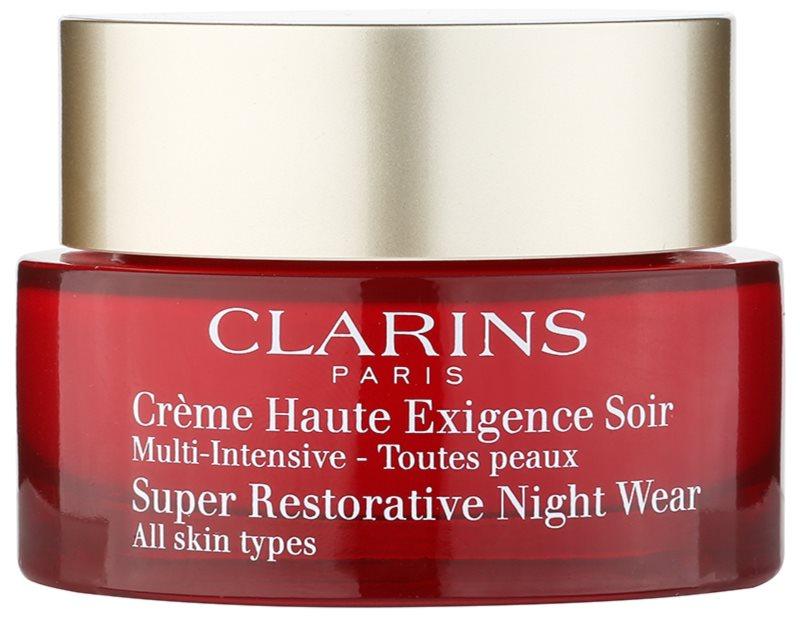Clarins Super Restorative nočný revitalizačný krém pre všetky typy pleti