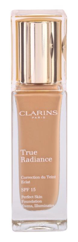 Clarins Face Make-Up True Radiance élénkítő hidratáló make -up a tökéletes küllemért SPF15
