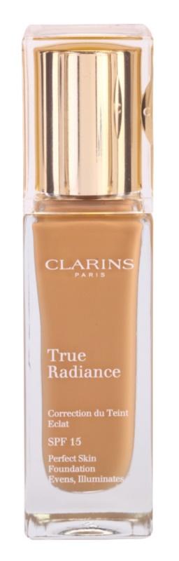 Clarins Face Make-Up True Radiance освітлюючий та зволожуючий тональний крем SPF 15