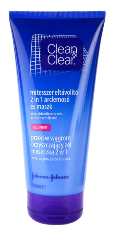 Clean & Clear Blackhead Clearing máscara de limpeza e gel 2 em1 anticravos