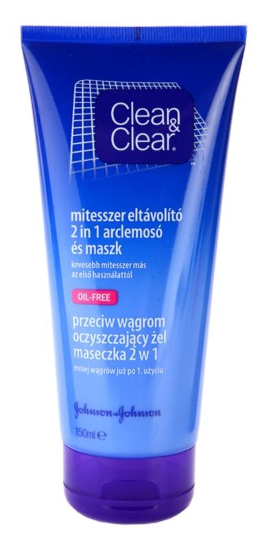 Clean & Clear Blackhead Clearing tisztító maszk és gél 2 az 1-ben a fekete pontok ellen