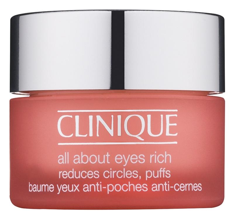 Clinique All About Eyes Rich хидратиращ крем за очи против отоци и тъмни кръгове