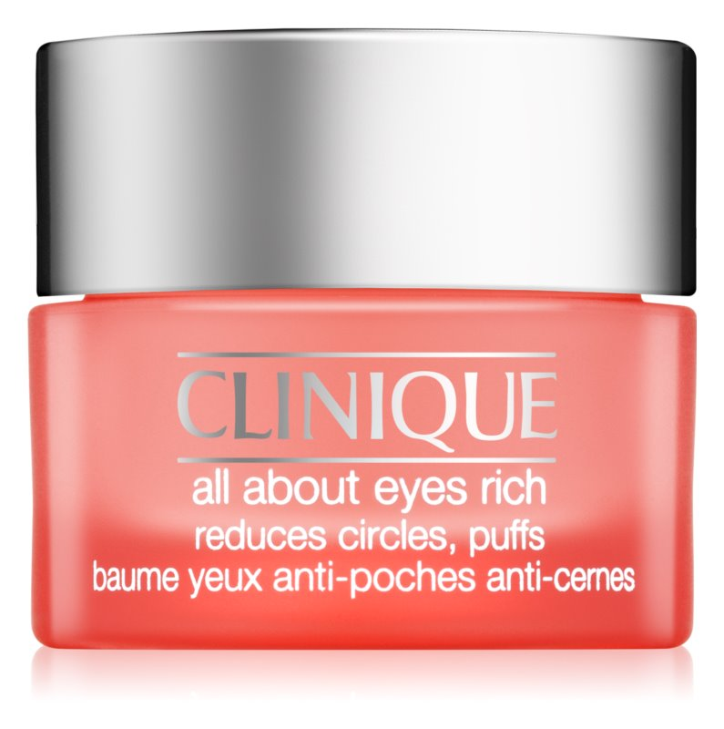 Clinique All About Eyes Rich creme de olhos hidratante contra olheiras e inchaços