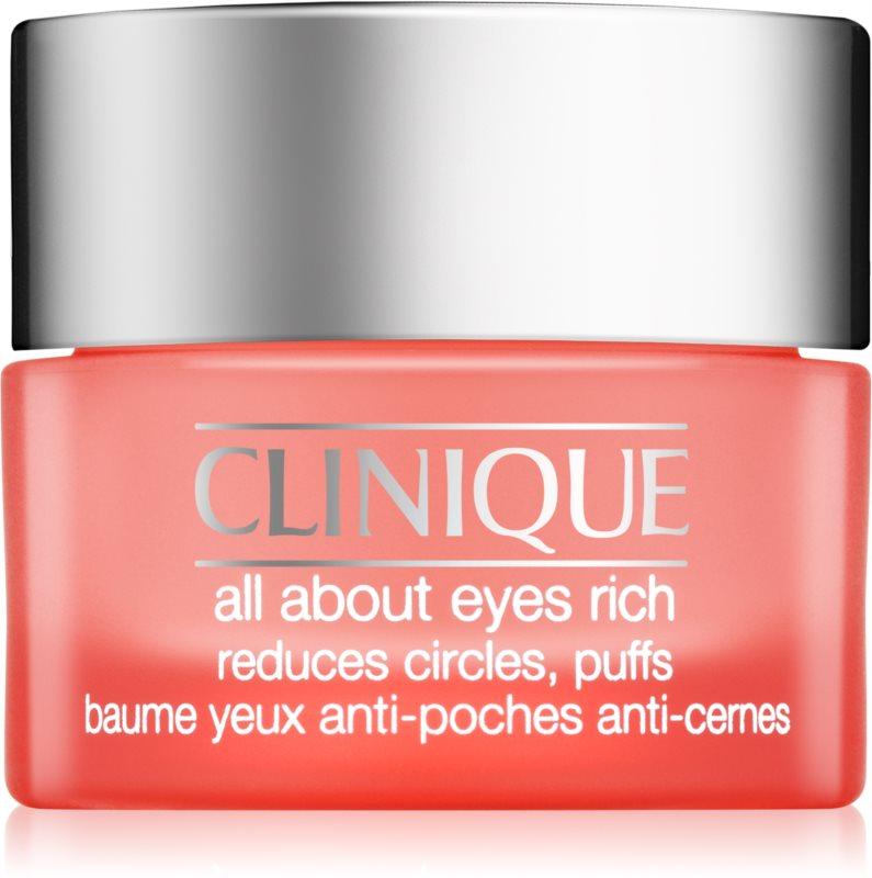 Clinique All About Eyes Rich зволожуючий крем для очей проти набряків та темних кіл