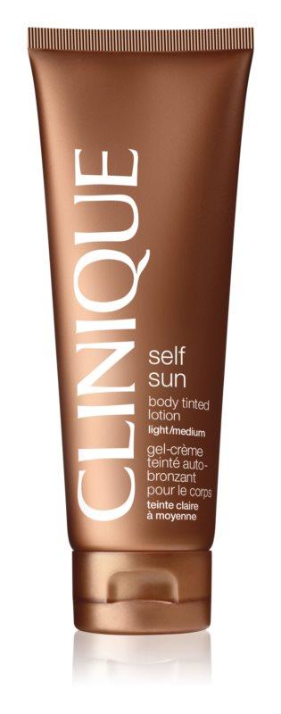 Clinique Self Sun samoopaľovacie telové mlieko