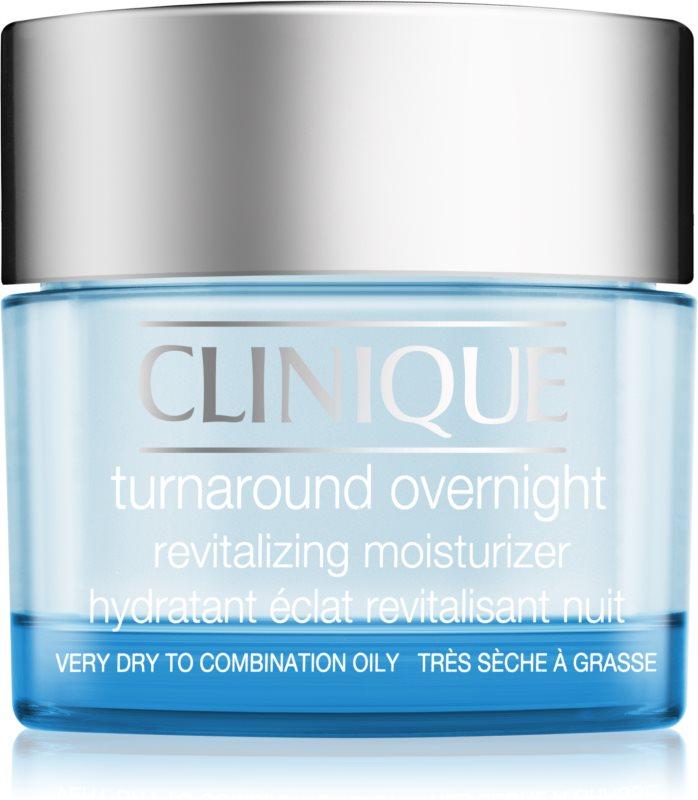 Clinique Turnaround creme revitalizante de noite para pele seca e mista